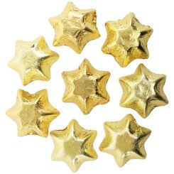 10 Gold Belgian Chocolate Stars