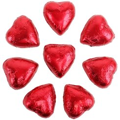 8 Red Belgian Chocolate Hearts