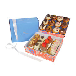 Eclair and Gourmet Donut Box Duo