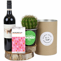 Plant One Wine and Cactus Gift