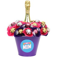 'Number One Mum' Blush Luxury Prosecco Chocolate Bouquet