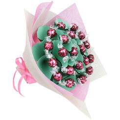 Strawberries and Cream Lindt Handheld Bouquet