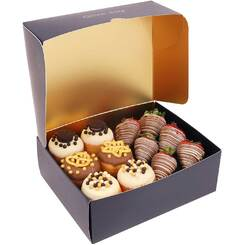Gourmet Donut and Strawberry Gift Box