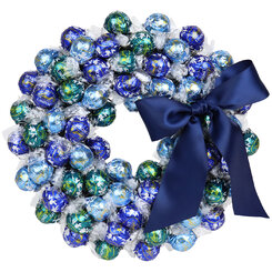 Navy Christmas Wreath