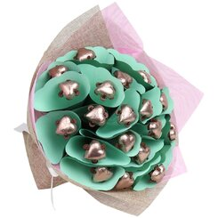 Dark Chocolate Twenty Heart Posy
