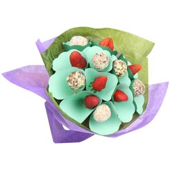 Strawberry and Vegan Friendly Bliss Ball Bouquet