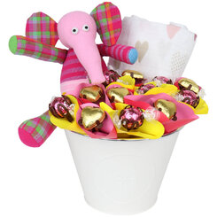 Ellie the Pink Elephant Chocolate Bouquet