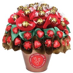 Valentine Rose Garden Large Chocolate Bouquet