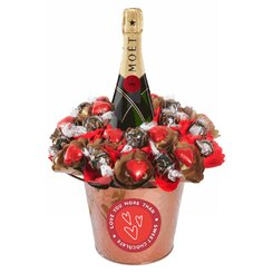Valentine Luxury Moet Lover Chocolate Bouquet