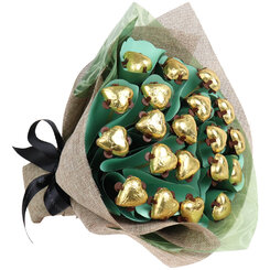 Twenty Hearts Golden Chocolate Bouquet