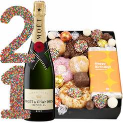 Champagne Birthday Bonanza Dessert Treat Box
