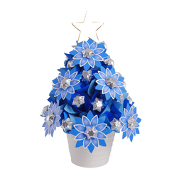 RB Blue Flower Christmas Tree Large