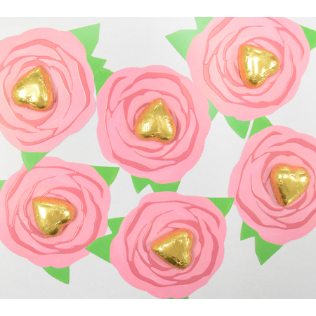 50 Pink Rose Party Favours