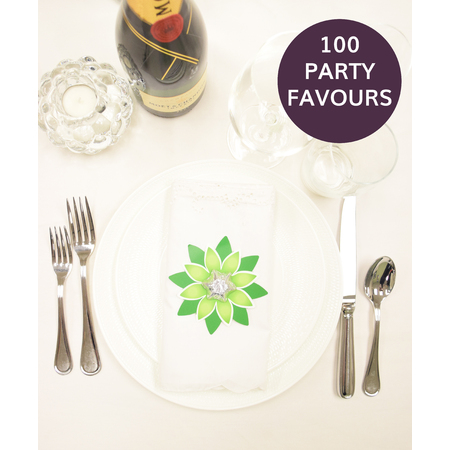 100 Green Star Party Favours