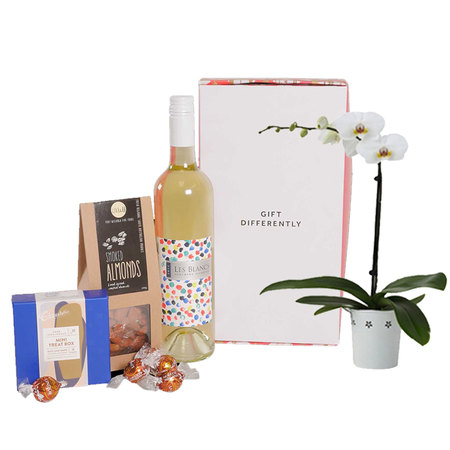 Orchid & White Wine Hamper
